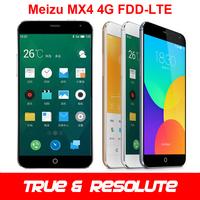 """Original Meizu MX4 4G FDD-LTE+WCDMA Cell Phone MTK6595 Octa core 2GB RAM 32GB ROM 5.36"""" 1920x1152 IPS 20MP 3100mAh GPS Flyme 4"""