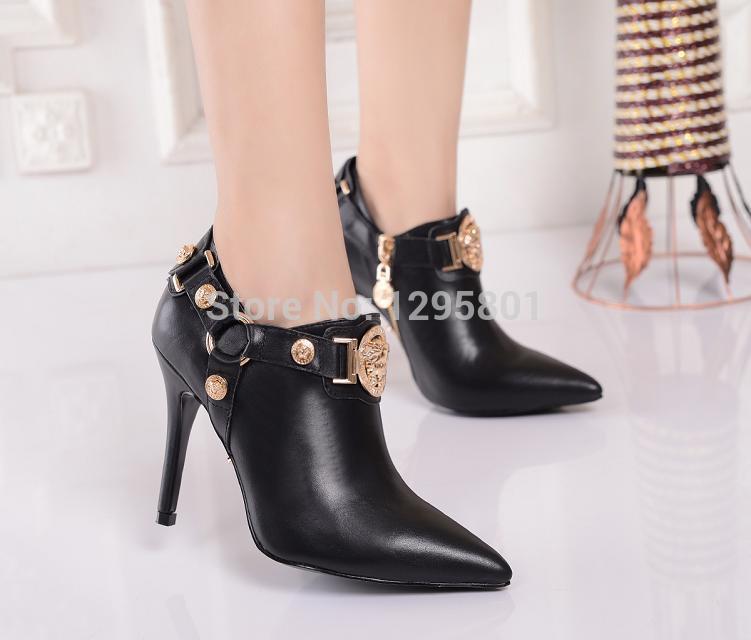 [해외]2014 가을 부츠 하이힐 신발은 하이 엔드 럭셔리 패션 발목 부..