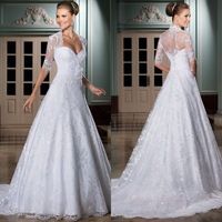 Vestido De Noiva Renda Bridal Dresses A-line Sweet Wedding Gown With Bolero White Vestido De Casamento Vestido De Noiva Curto