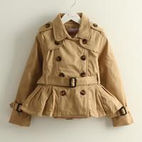 2014 Korean Fashion Children Jacket Child Girl Clothing Long Sleeve Single Breasted Denim Jacket K6226