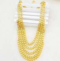 2014 High quality Korean Suitable for men and women Jewelry 18K Real Gold Plated Necklace