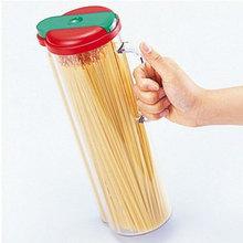 Red Auto Spaghetti Storage Container Pasta Dispenser Jar Canister Noodle Storage Box Jar Bottle Kitchen Fridge(China (Mainland))