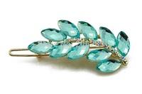 Fashion crystal women Barrettes leaf hairpin B1288