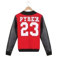 Fashion 2014 Winter NEW Men outwear PYREX print sweatshirt 23 sportwear casual baseball jacket Brand Hiphop coats three colors
