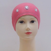 mu603 wholesale cotton with biggest hot drill  muslim islamic scarf hijab inner hat underscarf