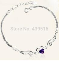 New Items Bracelets Rhinestone Bracelets 925 Sterlng Silver Bangles Fashion Jewelry Gift Jewelry