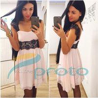 Casual Dress Elegant Evening Party Dresses High Street Women Dress Lace Cozy Celebrity  Dress Chiffon Vestidos De Fiesta 9202
