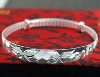 chinese handmade traditional antique silver bracelet sterling silver bangles
