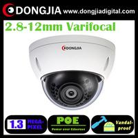 DA-IP6118HDV-POE 2.8-12mm varifocal lens vandalproof dome 960p 1.3MP cctv ip full hd camera