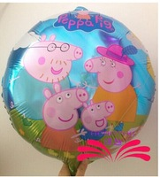 Peppa pig family toy balloons birthday party balloon decoration for Christmas Halloween Party