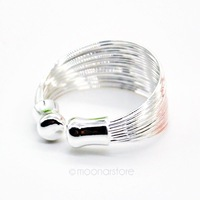 Fashion 925 Sterling Silver Ring Unique Coil Loops Silver Plated Open Finger Rings Women Jewelry Silver Ring Y50 MPJ253#M5