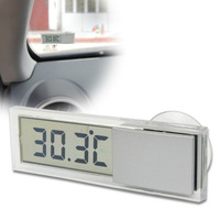 2014 New Arrival Thermometers Suction On Car Windscreen Or Auto Rear View Mirror Digital Display Thermometer