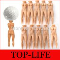 Faddish Individual Golf Tees Multifunction Nude Lady Divot Tools Tee Golf Stand Free Shipping