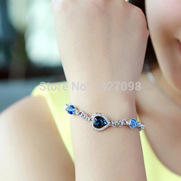 Free Shipping (5 pieces/lot) 2014 fashion magnetic bracelet new style gold crystal bracelet elegant friendship bracelet(China (Mainland))