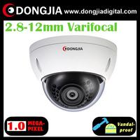DA-IP3118HDV 2.8-12mm varifocal lens vandalproof dome 1 megapixel 720 p2p ip camera