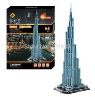 CoWa 3D DIY puzzle Burj Khalifa educational toy 3D jigsaw best gift to children with exquisite box 64pcs 66*25*22cm