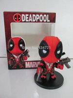 Hot Sale Marvel X Men Superhero Deadpool/Wade Wilson Weapon X Cute Version PVC Figure Toys New In Original Box
