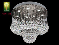 Chandelier Crystal K9 Free Epistar LED bulb High Quality Ball with Ring Design Energy Save Living Room Antirust stainless steel