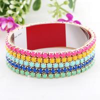 2014 Europe style Street beat  multi- hit color bracelet bohemian  12 pcs /lot
