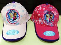 300pcs/Lot Free Shipping !2014 Top Selling Frozen Princess Cap Cartoon Sun Hats For Girls Summer Cap A3447 Wholesale