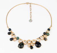 Fashion Brand Jewelry New Arrival 2014 Luxury Statement Simple Water Drop Resin Necklace & Pendants Accessories For Women