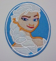 Frozen Snow Queen Elsa Iron On Patches USA cartoon princess Appliques Exquisite embroidered patch cloth wholesale100pcs/lot