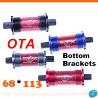 OTA  square hole ultralight  seal bearing bicycle Bottom Bracket 68 *113 MTB axle bike cycling seal axis