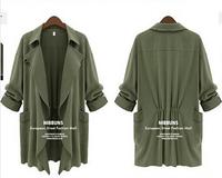 XL-5XL ,2014 Autumn Winter Jackets Women Long Cardigan Blazer Coat Casacos Femininos Casual Plus Size Long-sleeve Overcoat Parka