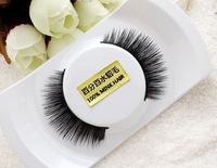 Free Shipping Handmade Thick Black Nature 100% Mink Hair False Eyelashes  2pairs/lot