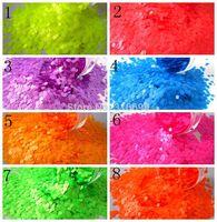 1 mm SOLVENT RESISTANT Neon Dots Glitter Sampler Set for Glitter Nail Art,
