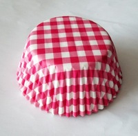 200pcs pink gingham party supply paper cupcake liners baking cups