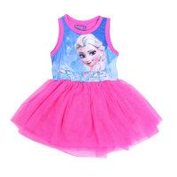 Free Shipping 2014 New Design 2~8 Yrs Girls Frozen dress Kids Elsa's Princess dress Baby frozen Printed Dresses Cartoon Clothing