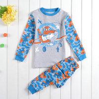 Free Shipping 1 PC 2014 New Boys Planes Pajamas 100% Cotton Pyjamas Baby Pijamas Kids Printed Sleepwears Cartoon Clothing set