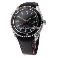 2014 new design Men's mechanical Watches Stainless steel hand wind luxury brand Watch GMT MASTER  analog men wristwatches