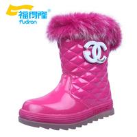 2014 winter fur one snow boots waterproof antiskid girls  Foot length 18 ~ 23cm