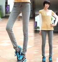 2014 New In Fashion Women Jeans Korean Style All Match Casual Concise Design Slim Retro Female Long Pencil Denim Pants Plus Size