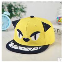 Hat child summer male female child kitten baseball cap flat hat hip-hop cap