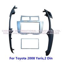 2Din Car Radio Frame,Installation Kits,Facia Plate,DVD Panel Kit, Stereo Install Frame,Fascia Panel for Toyota 2005-2013 Yaris
