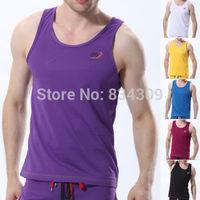 2PCS Men's Casual Round Neck Tank Tops A-shirt Singlet T Shirts Undershirts Underwear Mens Boys Solid Colors Sleeveless Shirt