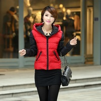New Autumn Winter short paragraph Korean version of the new Slim Down coat cotton jacket ladies ladies cotton padded Polka Dot