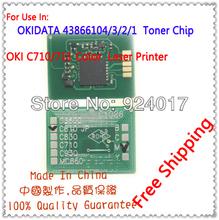 Reset Chip For Oki 44318604 44318603 44318602 44318601 Toner Cartridge,Toner Chip For Oki C710 C711 C710N C711n Printer Laser