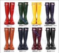 2014 Brand Mid-Calf Waterproof Women Autumn Winter Rain boots Leather women's water shoes wellies Rainboots Sapatos Femininos