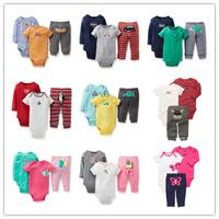 3pcs/Set Original Carters Baby Girl Boy Clothes Baby Clothing Set Bodysuit Newborn 100% Cotton Overalls ropa bebe Baby Bodysuits