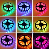 LED Strip 5050 12V flexible light 60 leds/m waterproof strip light,5m/Roll White,Blue,Green,Red,Yellow,RGB