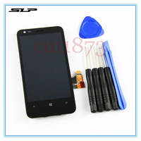 LCD Display Touch Screen Digitizer lens Assembly For nokia lumia 620 LCD with touch + free tools