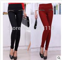 Autumn new Women Korean personality stretch pants feet single zipper pencil pants high quality  leggings