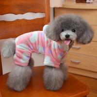 2015 Pet clothing Factory outlets , winter pet sweater , cartoon design soft warm Flannel 4legs S-XXL 16/LOT