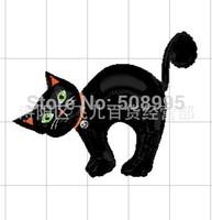 1p Halloween Blackk Cat  Foil Helium Balloon Birthday Party Halloween Decoration Celebration Supplies Kids Gift  Toy