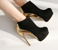 New Women's Boots High Heeled Ankle Boots Shoes For Woman Platform 2Colors Fashion