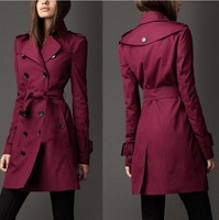 2014 Hitz large size women in Europe and America the British coat double-breasted long coat Slim NDZ195 Y9W